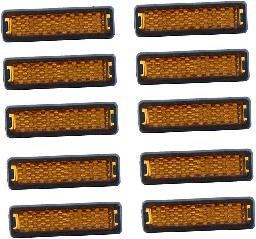 Perfeclan 10pcs R/éflecteurs de P/édale de V/élo de S/écurit/é de Nuit Roue de v/élo R/éfl/échissant Montagne Route de Rayon R/éfl/échissant Taille Unique