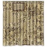 Shaw case African elephant Design custom having a walk The Bathroom Waterproof Polyester Fabric Shower Curtain 72x72inch