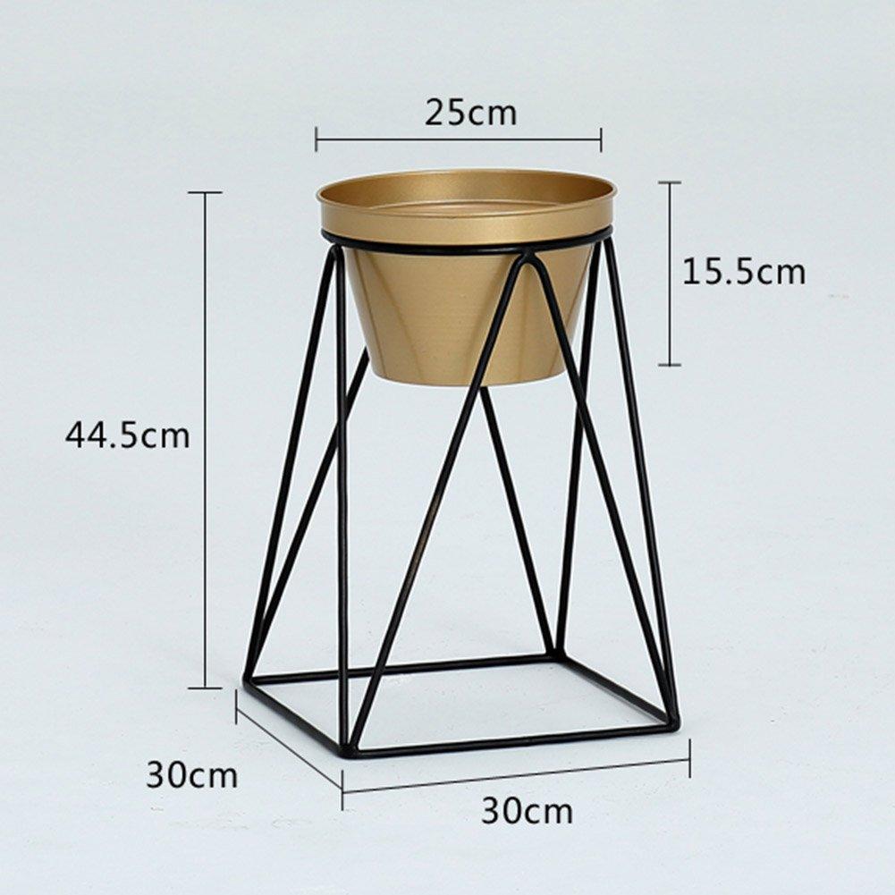 フラワースタンド アイロンフラワーラックポットシェルフフロアディスプレイプラントスタンド北欧シンプルバルコニーリビングルームインドア、3色、4サイズ 花支架 (色 : ゴールド, サイズ さいず : 30*30*44.5cm) B07DHP5L8K 30*30*44.5cm|ゴールド ゴールド 30*30*44.5cm