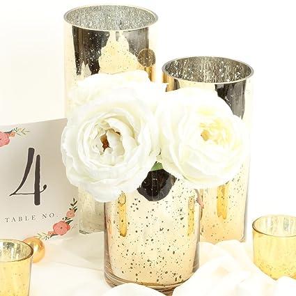 Amazon Koyal Wholesale Mercury Glass Cylinder Vases Set Of 3