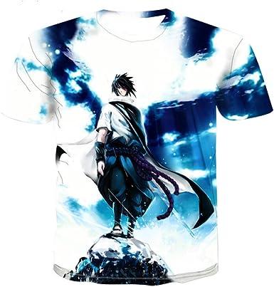 TSHIMEN Camisetas Hombre Hipster Naruto Marca 2019 Camiseta de los Hombres de la Historieta del Animado 3D de la Camiseta de los Hombres Camiseta Hip-Hop de los Hombres Divertidos Camisa Blanca: Amazon.es: