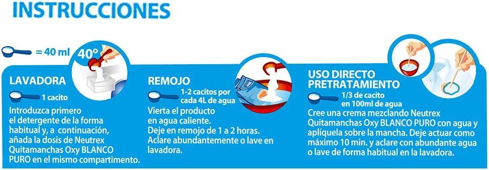 Neutrex Oxy Blanco Puro Quitamanchas sin Lejía - 512 g: Amazon.es ...