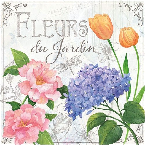4 Paper Napkins for Decoupage - 3-ply, 33 x 33cm - Fleurs Du Jardin (4 Individual Napkins for Craft and Napkin Art.) Tigers on the Loose