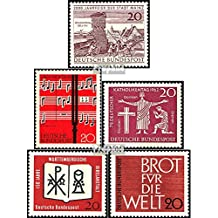 FRD (FR.Germany) 375,380,381,382,389 (complete.issue.) 1962 Mayence, Song, Hanover, Bible, Bread (Stamps for collectors)