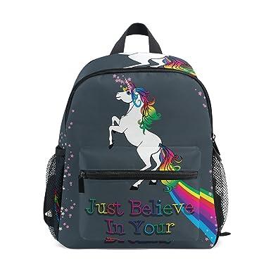 Amazon Com Unicorn On Dark Preschool Bag Kids Backpack For Toddler