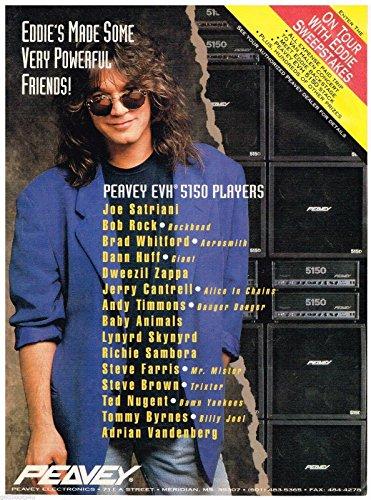 Eddie Van Halen 5150 - Peavey EVH 5150 Players - Eddie Van Halen - 1993 Print Advertisement