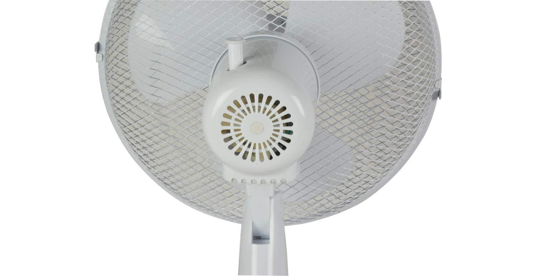 MERCURY Ventilatore da Tavolo Bianco Potente e Silenzioso con 3 impostazioni di velocit/à 35W