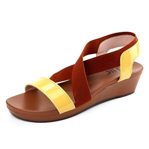 Sandalias Planas Verano,Coreano Sandalias Planas Estudiantes Slip,Zapatos De Mujer Embarazada-B Longitud del pie=22.8CM(9Inch)