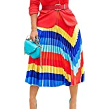 Amazon.com: Falda plisada para mujer con estampado de letras ...