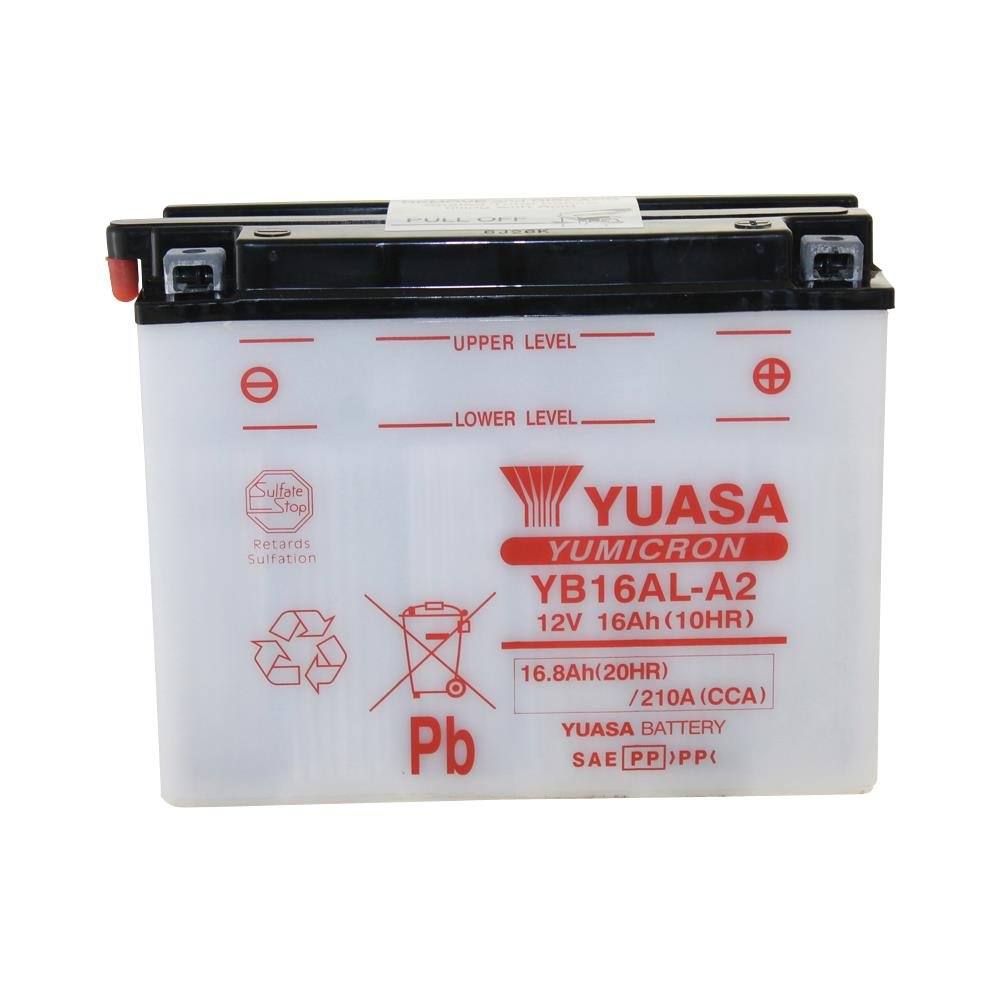 1990 YUASA YB16AL-A2 Batterie Yamaha XV750 SE 4FY Bj