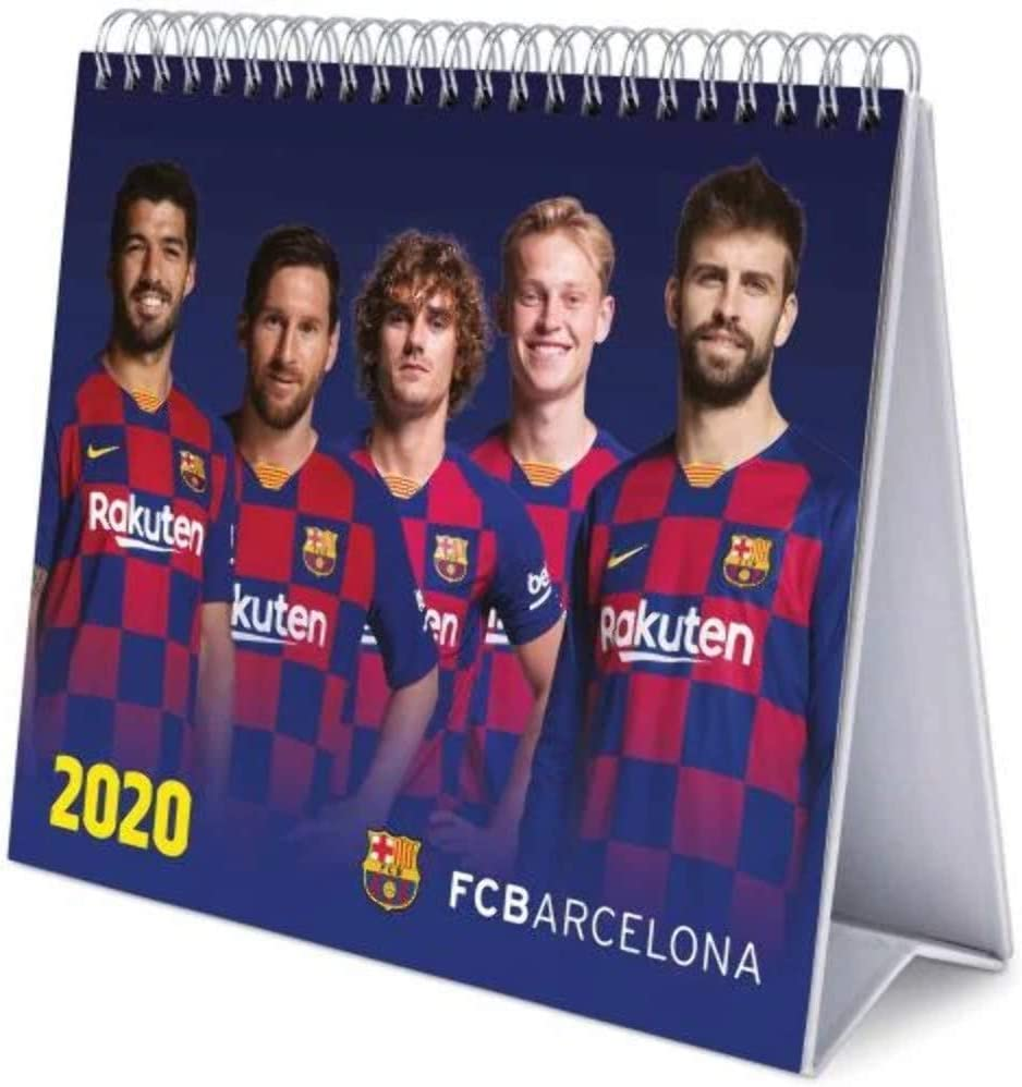 Erik - Calendario de Escritorio Deluxe 2020 FC Barcelona (17x20 cm)