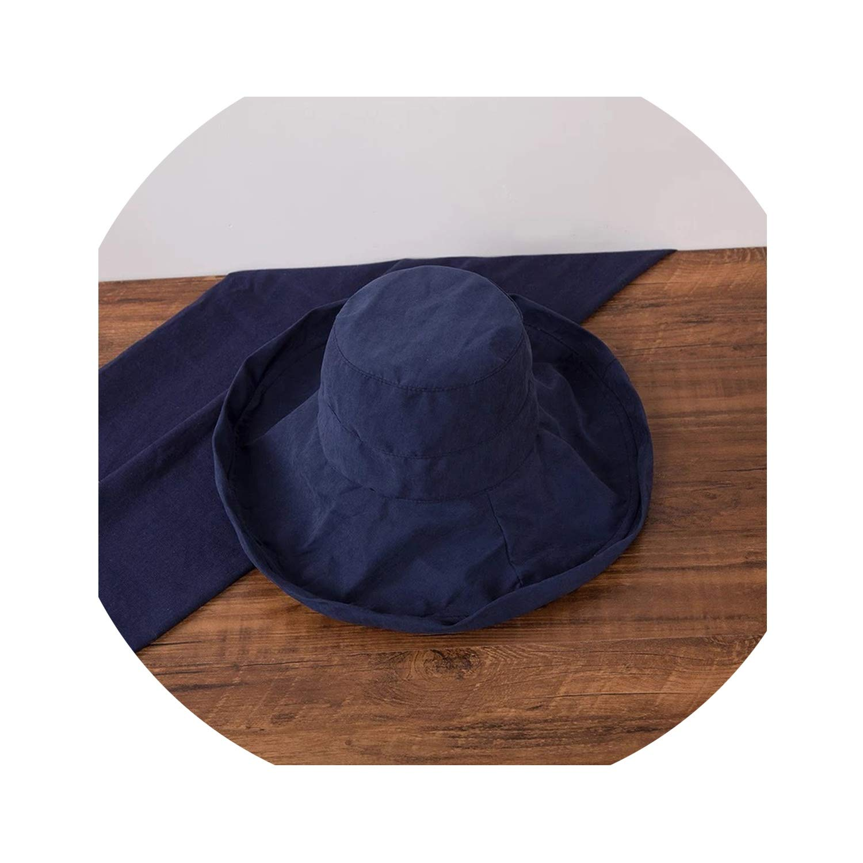 Bucket Hats Women Wide Brim Sunscreen Summer Solid Elegant Womens Fisherman Hat All-Match Leisure Trendy Retro Chic