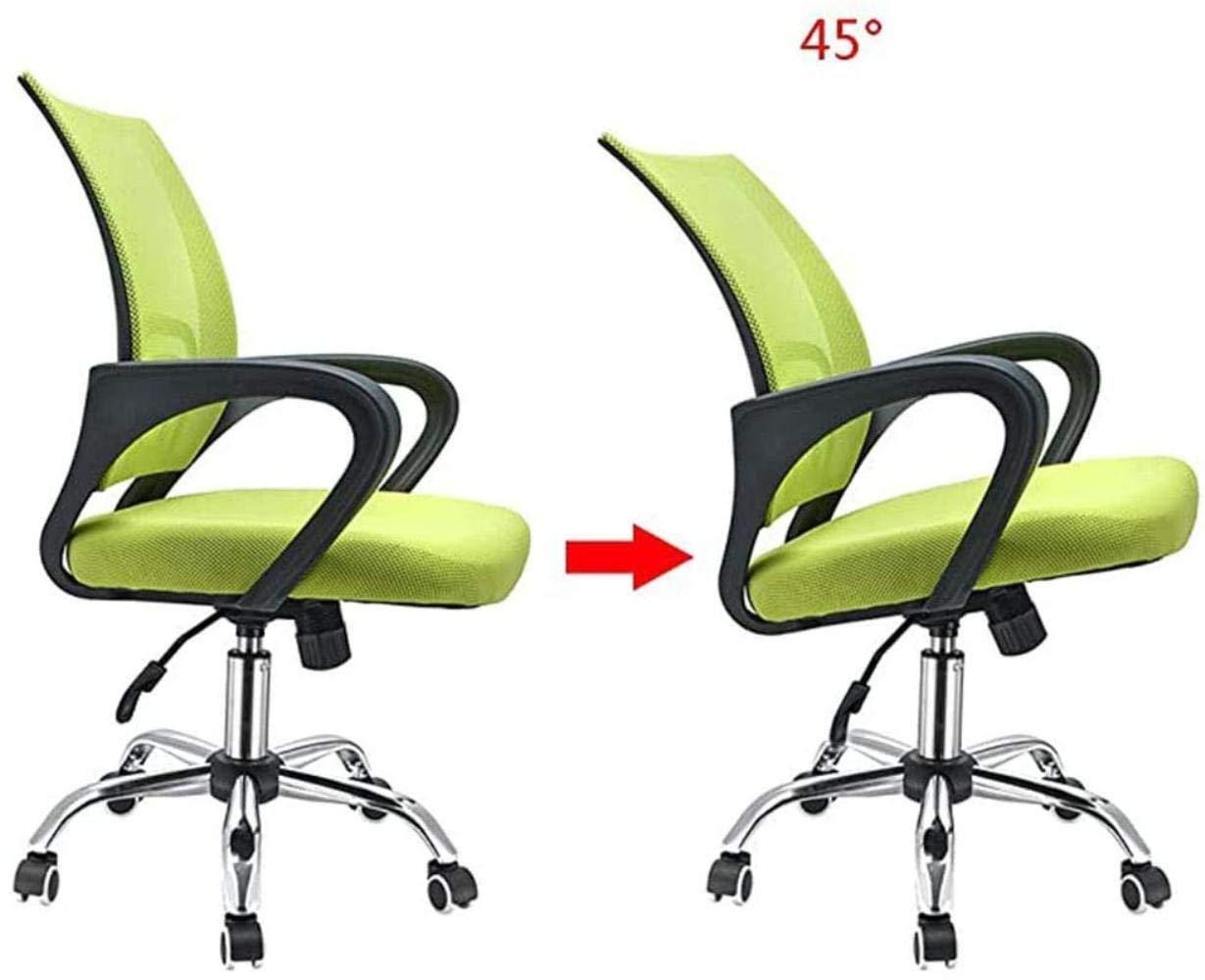 Mode kontorsstol personalstol enkel multifunktionell nät modern stol ergonomisk dator skrivbord stol knästol (färg: Grön) gRÖN
