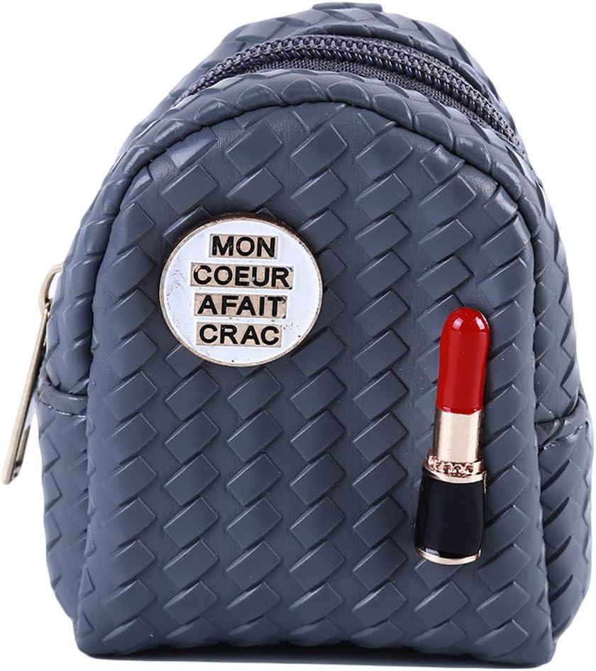 Winwinfly Mini Sac /à Main Rouge /à l/èvres pour Femme Multifonctionnel Petit Portefeuille Porte-cl/és Sac /à Main Cha/îne Porte-cl/és,Beige
