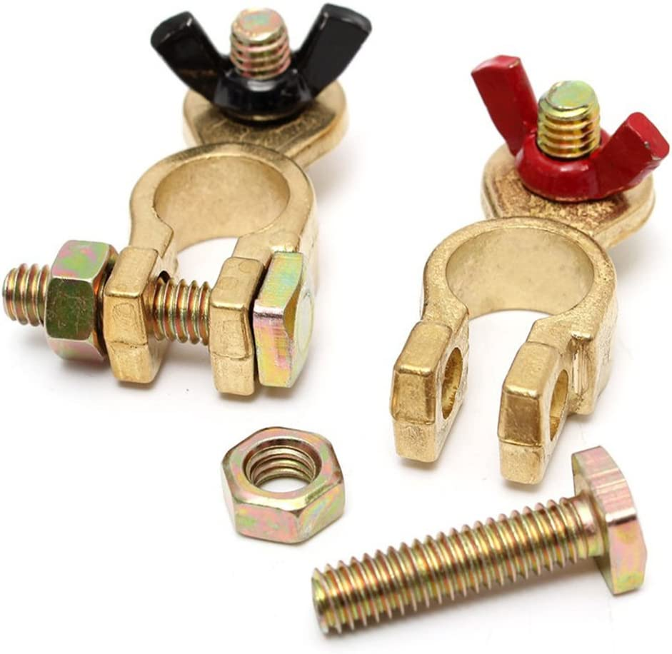 Cllena Battery Terminal Clamp Clips Brass Connector Ends Positive /& Negative for Car Truck Auto Marine Boat Batteries