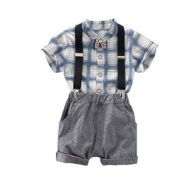 Amazon.com: ESHOO Gentleman Suspender - Traje para niño con ...