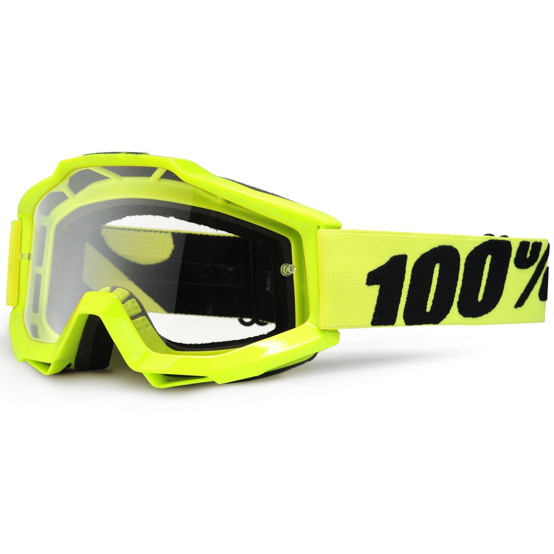 100/% Accuri/ /Gafas Cross Fluo Yellow