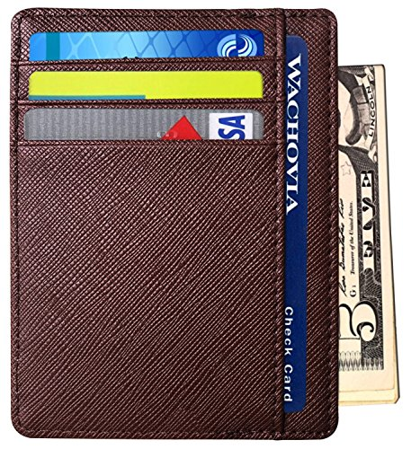 RFID Wallet Mens Slim Leather RF...
