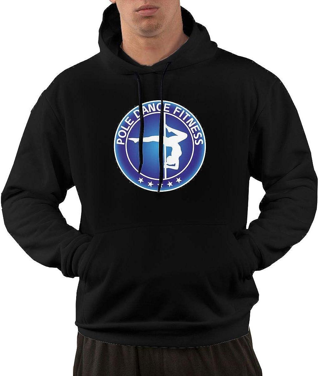 Gjdv Pole Dance Fitness Mens Front Pocket Pullover Cotton Hoodie Sweatshirts