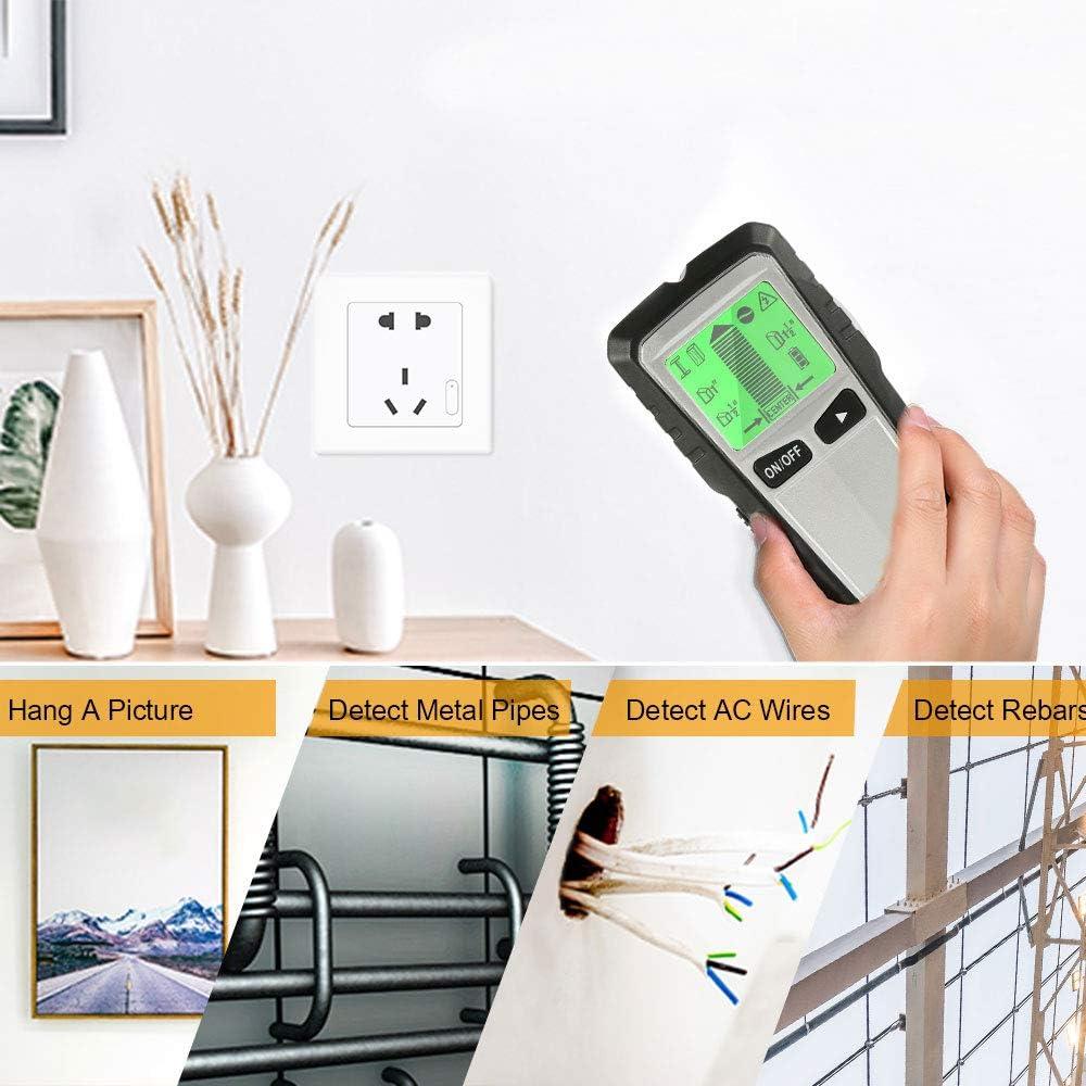 Esc/áner de pared con tacos y pantalla LCD digital y advertencia de sonido para madera detector de vigas cable de CA y metal Welcomefee