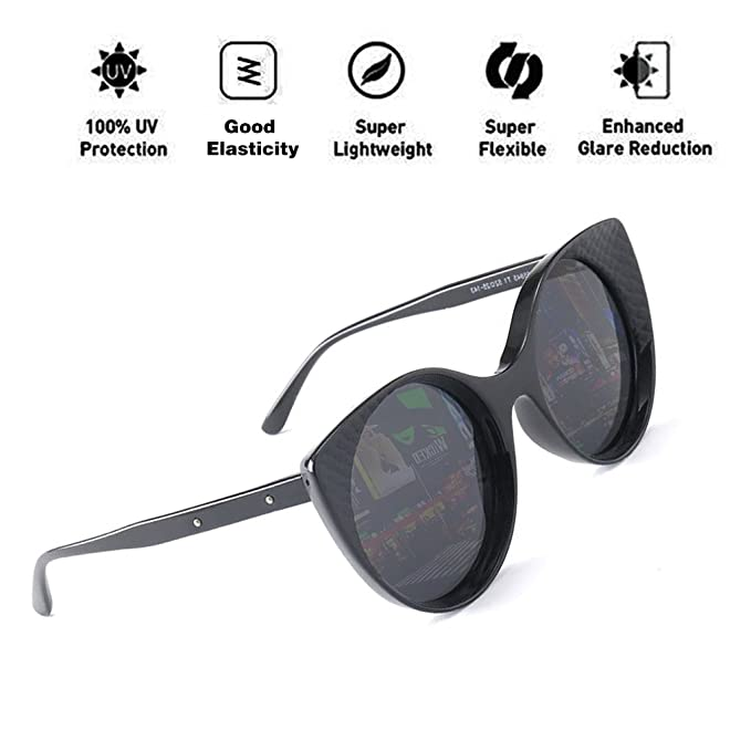 ATNKE gafas de sol redondas ojo de gato polarizado para ...
