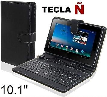 SUNING Funda con Teclado Tablet 10