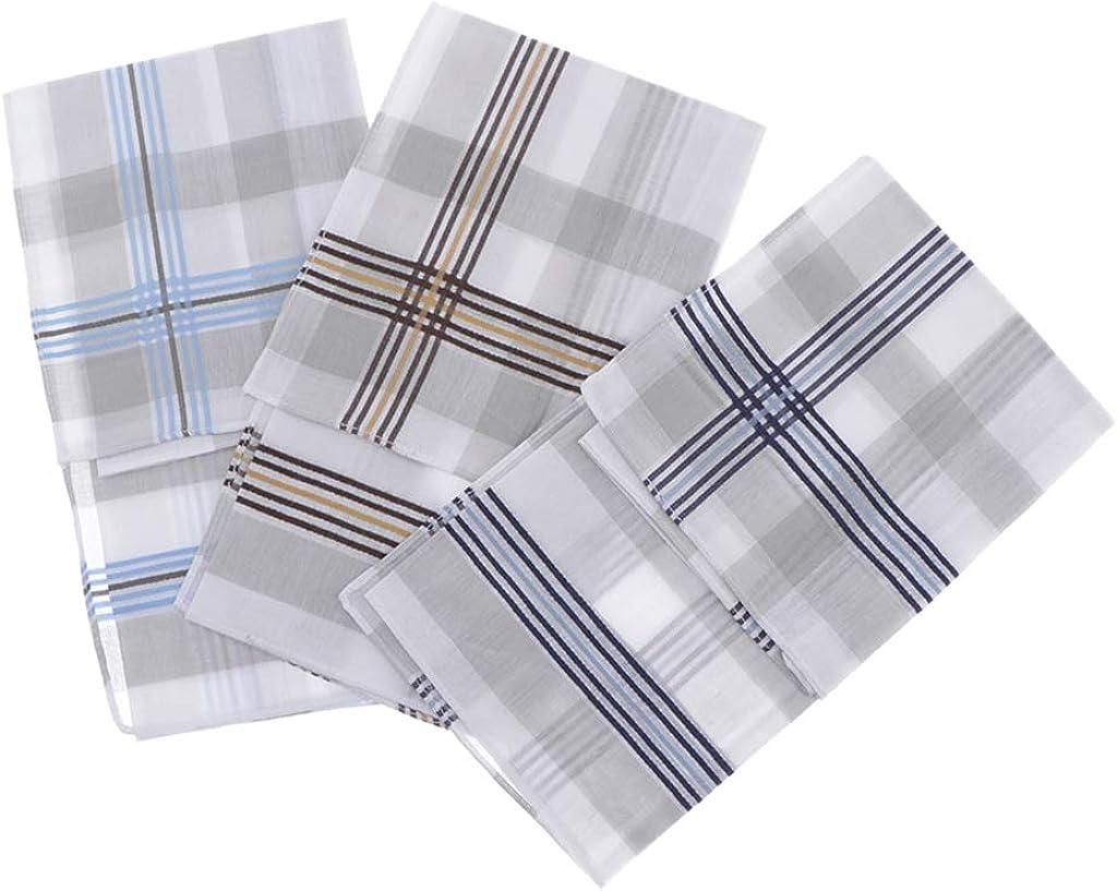 P Prettyia 6 Pi/èces Mouchoirs en Coton Motif /à Carreaux Handkerchief Square V/êtements Accessoires