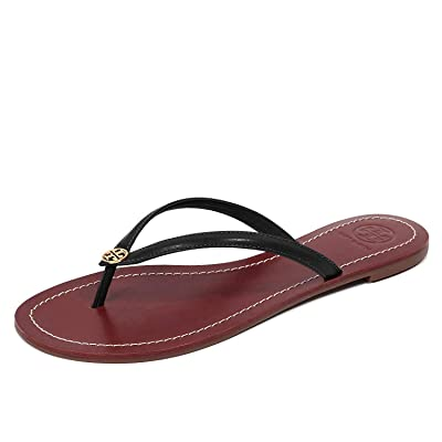 Tory Burch Womens Terra Thong Leather Open Toe Casual Slide Sandals | Flip-Flops