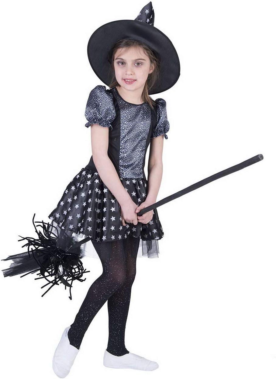 Luxuspiraten - Disfraz Infantil de Bruja para niña, Halloween ...