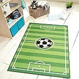 "Furnishmyplace Soccer Field Ground Kids Area Rug Size 4'5""x6'9"""