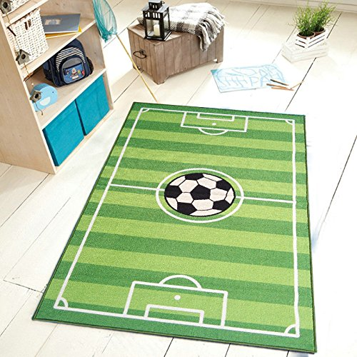 Furnishmyplace Soccer Field Ground Kids Area Rug Size 4'5