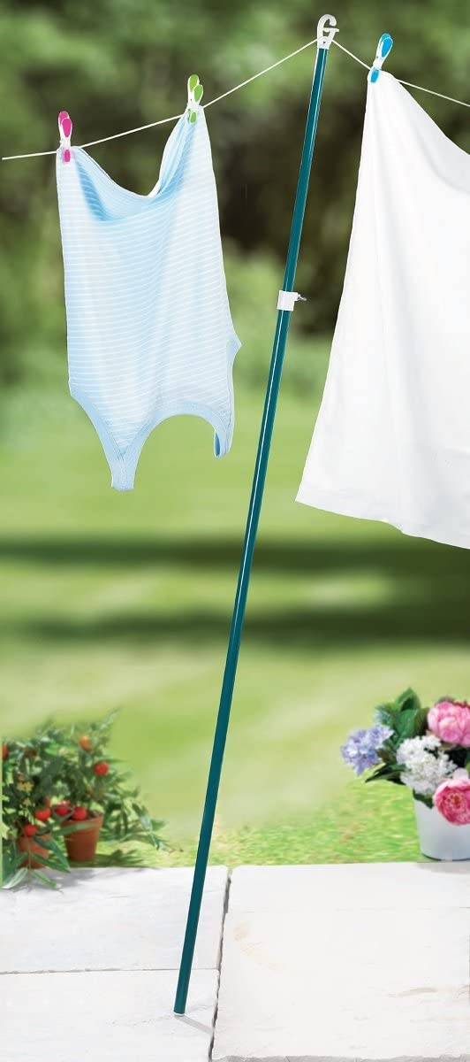 Washing Line Prop Clothes Pole Extendable Telescopic