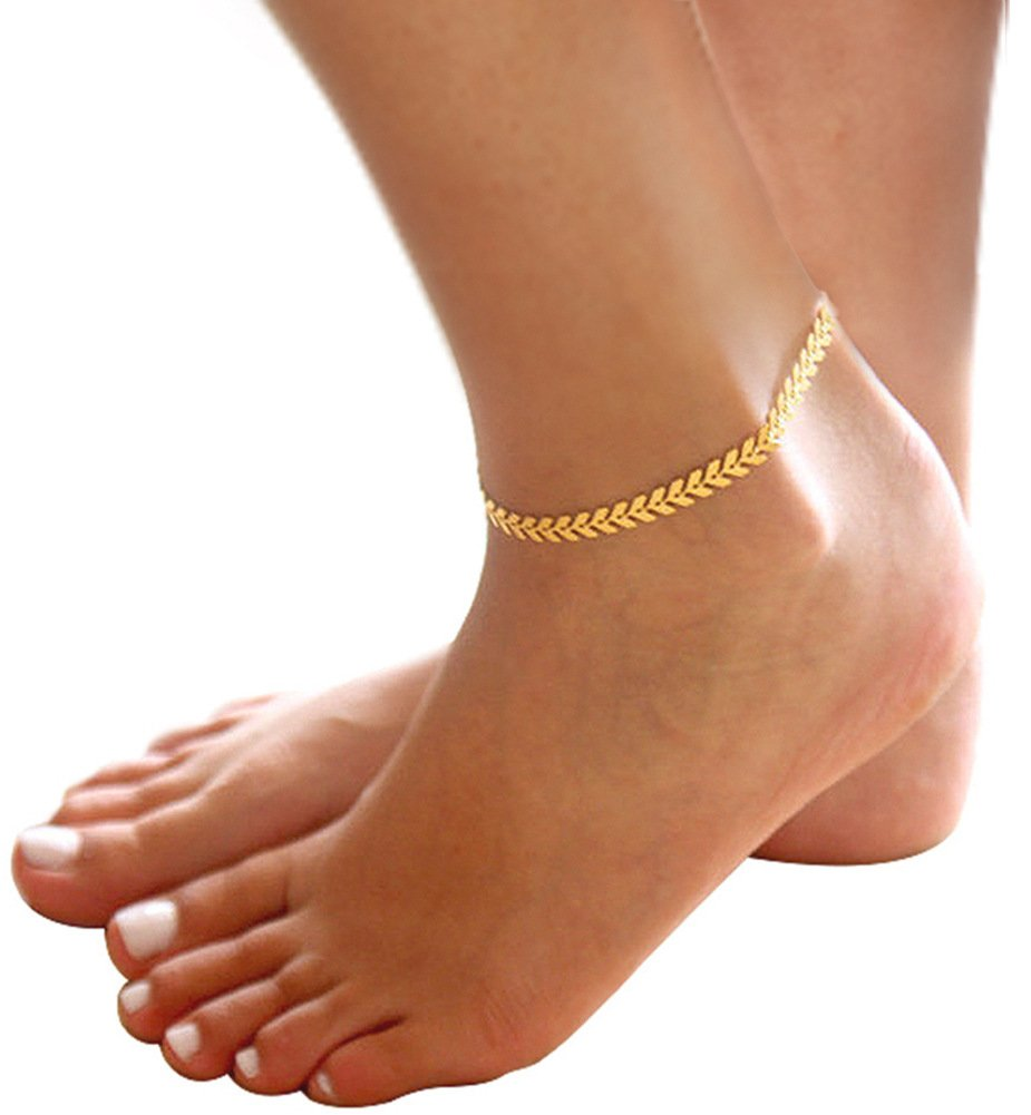 COLROV Cute Elegant Fine Anklets Charms for Women Beautiful Everyday Jewelry Gifts C-Anklet-1-Blue