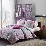 Teen Girls Torrance Pink & Grey 3Pc Comforter Set Bedding Twin/TwinXL Cute PB Vogue Bedspread Duvet Perfect For College Teenager Room Dorm Or Adult Bedset. Fun Fresh Vibrant Elegant Fashion Pretty