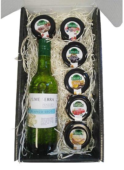 Cesta de Navidad para Regalo con Vino Blanco Penedes y ...