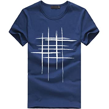 LuckyGirls Camisetas Hombre Originales Algodón Verano Manga Corta ...