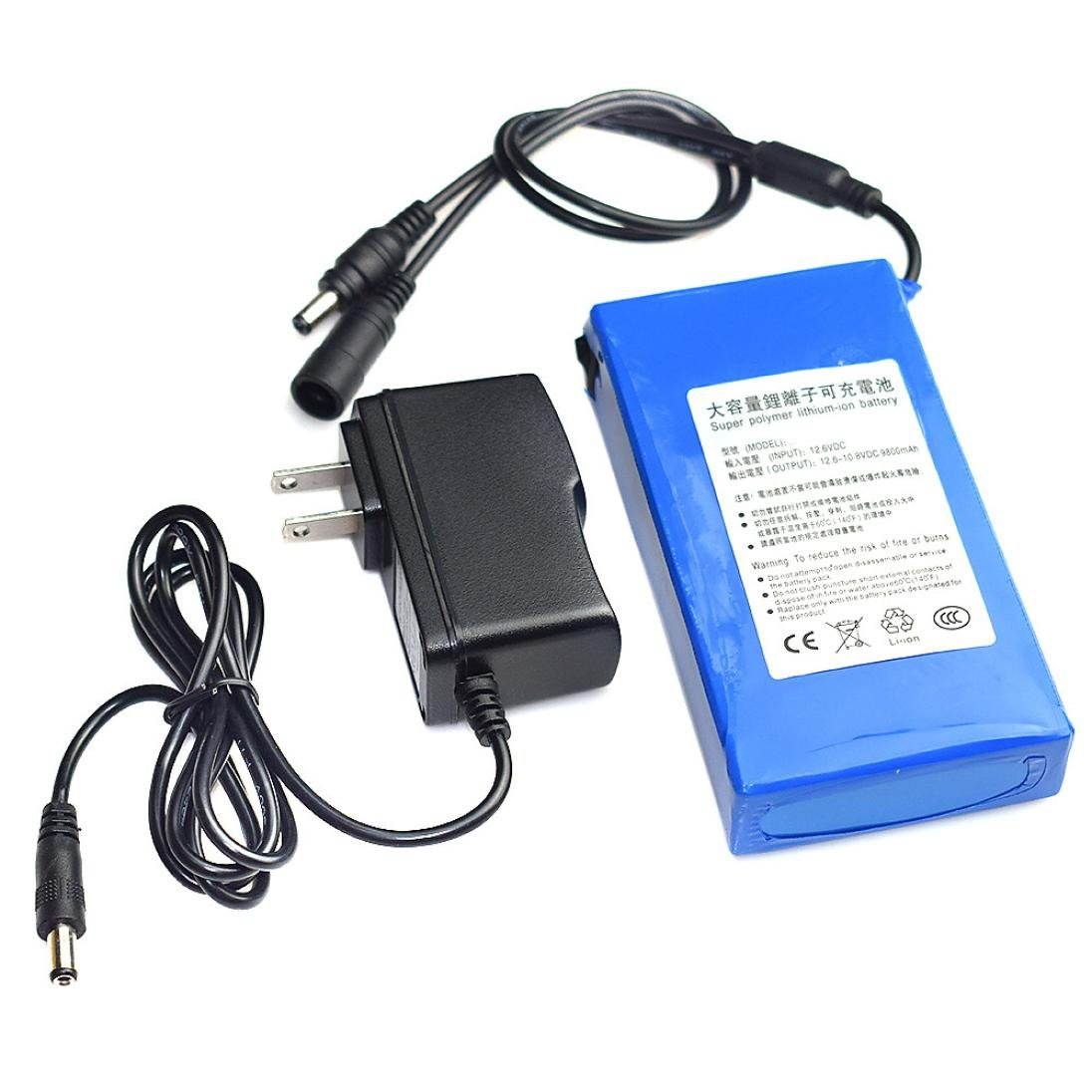 Sonmer DC 12V Super Rechargeable Li-ion Lithium Battery Pack,with US Plug (6800mAh)