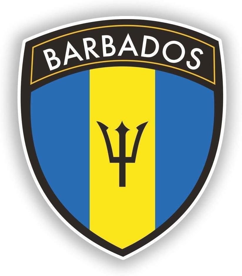 Barbados Flag Design Vinyl Sticker Decal Laptop Car Bumper Sticker Travel Luggage Car iPad Sign Fun 5