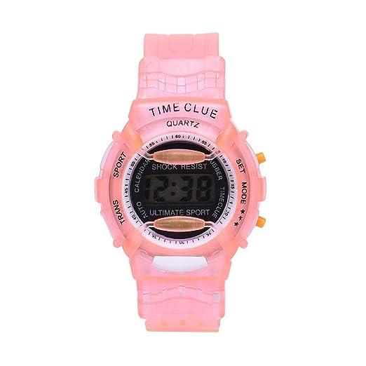 Malloom® moda Niños Niñas natación deportes digital impermeable reloj de pulsera (C)