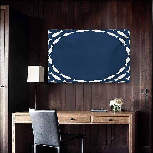 Duommhome Décoration Murale Bleu Marine Poster Peinture