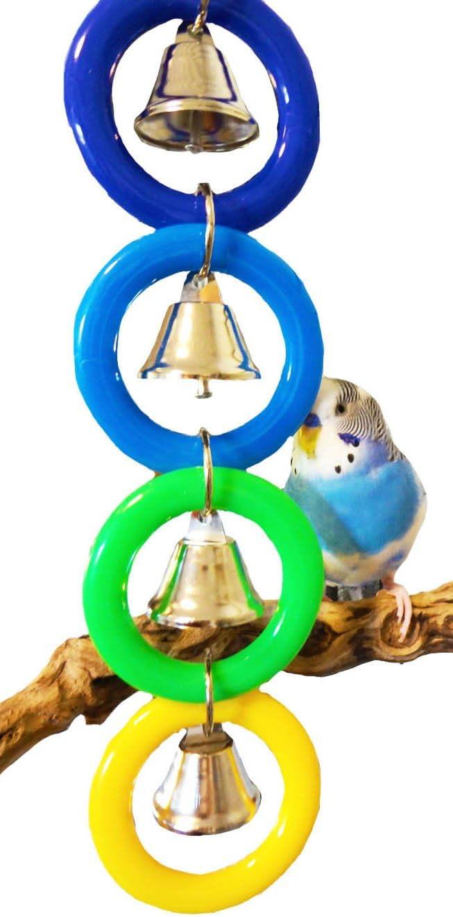 Bonka Bird Toys 945 4 Ring A Ding Bird Toy African Grey Budgie Parakeet Cockatiel Lovebird Cage Parrot Toys