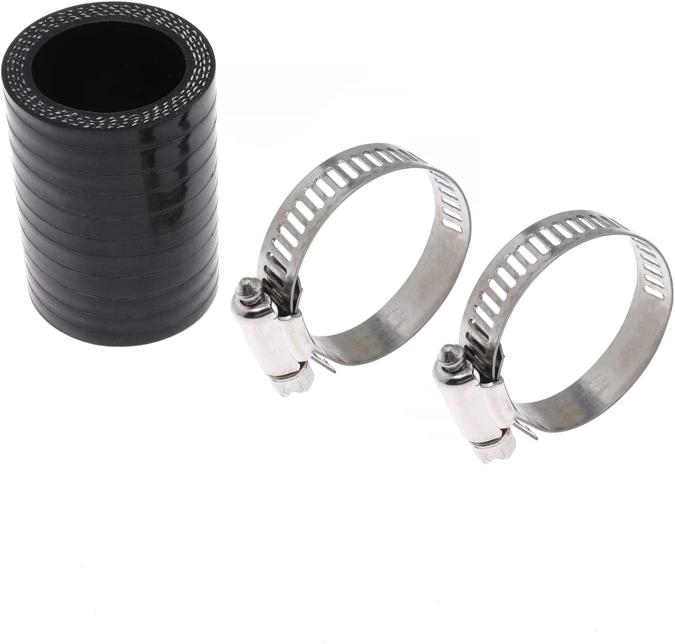 ROOSAIN High Temp Silicone Exhaust Pipe Couplings Clamps Kit Fits for Yamaha Blaster ATV 1987-2006 Replaces YFS200