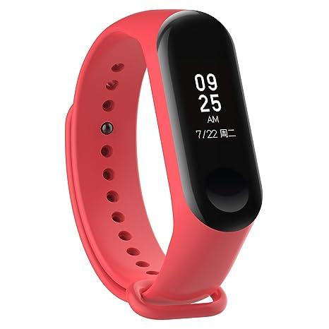XIHAMA Correa de Silicona Suave de Repuesto para Reloj Deportivo Inteligente Xiaomi Mi Band 3 (