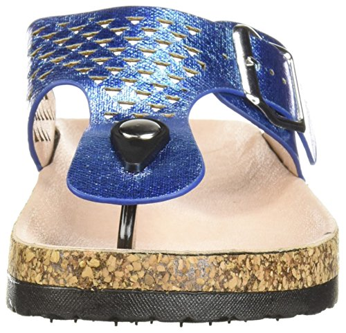 tornasol Azul Dedos Qupid los Estrecha Chancletas Tira Sandalia Mujer w8Aqwf6