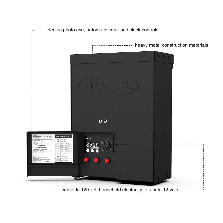 Malibu 900 Watt Power Pack with Sensor Photo Cell and Weather Shield on