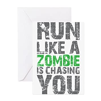Cafepress rul like a zombie is chasing you greeting cards cafepress rul like a zombie is chasing you greeting cards greeting card note m4hsunfo