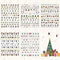 Whaline 20 Sheets Christmas Nail Art Stickers, 3D Self-Adhesive Stickers Santa Claus Reindeer X-mas Tree Bells Snowflakes Decals for Women Girls Kids Manicure DIY or Nail Salon (more than 1000Pcs)