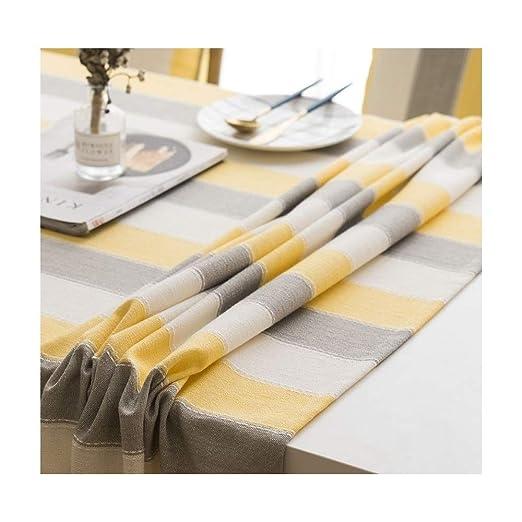 XLDN-Tablecloth Mantel Mesa de Centro a Rayas Rectangular ...