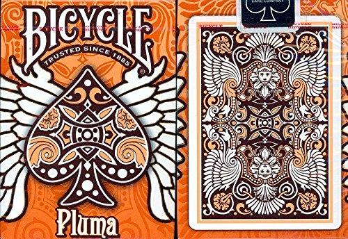 Bicycle Pluma Playing Cards in Orange (Bicycle Cards Orange Playing)