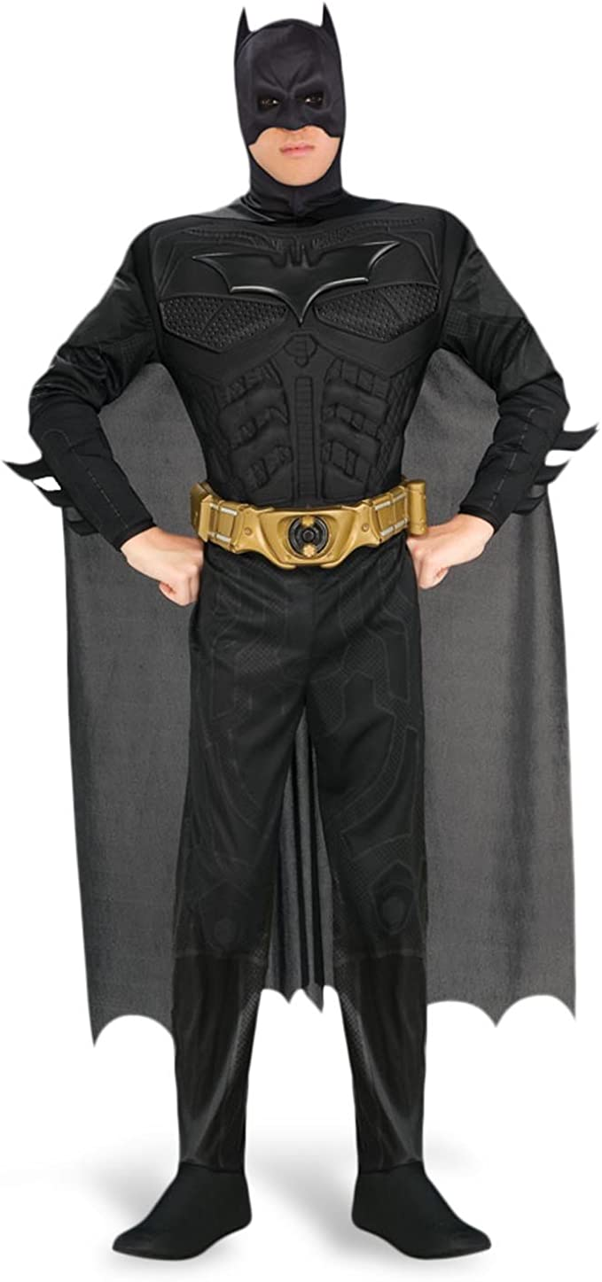 costume vestito batman adulto tg L 52-54 carnevale cosplay